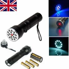 Black Powerful torch Light 3 in 1 Multi Function LED Torch Laser Ultraviolet UK