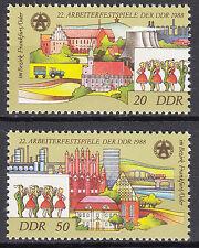 DDR 1988 Mi. Nr. 3168-3169 Postfrisch ** MNH