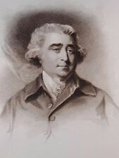 """The Rt  Hon Charles James Fox"" engraving after Reynolds by Meyer & Cadell 1812"