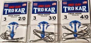 EAGLE CLAW TROKAR  TK250 Double Frog  Hook Sizes 2/0-3/0-4/0 choose FREE S/H