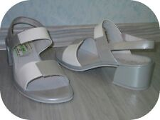 Damenschuh ROHDE Sandalette NEU Gr. 38 weiß grau Leder sehr bequem