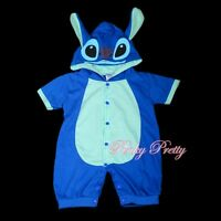 Stitch Baby Boy Fancy Party Costume One Piece Suit Romper Outfit Age 3m-18m #026