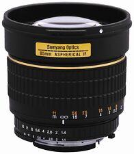 Samyang 85mm F1.4 Aspherical Lens for Canon T3i T3 XS 60D 50D 7D 5D T2i T1i XTi
