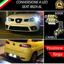 LUCI POSIZIONE A LED + LUCI TARGA A LED CANBUS SEAT IBIZA 6L NO ERROR