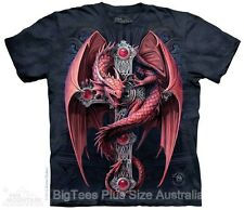 Gothic Guardian Dragon Plus Size T-Shirt NEW - Label USA 5XL (Fits AUST 10XL)