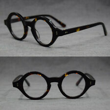 7a4596621d Hand Made Vintage small 38mm Round Eyeglass Frames Acetate unisex Optic  Glasses