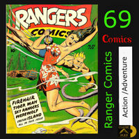 Ranger Comics | 69 Action - Adventure Golden Age Comics | Disc or USB