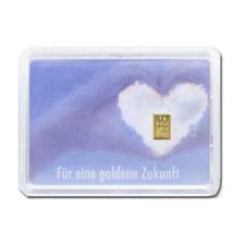 1 Gramm Goldbarren Goldene Zukunft Gold 999,9 Feingold in Geschenkverpackung