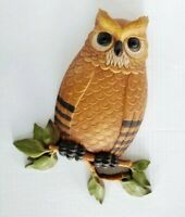 "Vintage 1976 Homeco Homco 14""X10"" Owl Wall Hanging Decor Plaque USA"