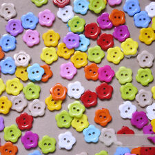 Substantial 14 mm 100pcs Mixed Color  Flower  Resin Sewing Buttons HIgh Quality