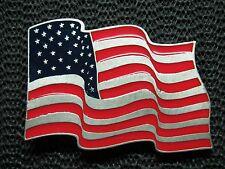 AMERICAN FLAG GOD BLESS AMERICA BELT BUCKLE! VINTAGE! EJC! LEGENDS WEST! 2001!