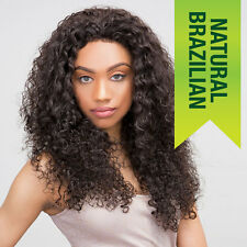 100% HUMAN HAIR BRAZILIAN LACE FRONT WIG - FRENCH WIG - Natural Black -HERA REMY