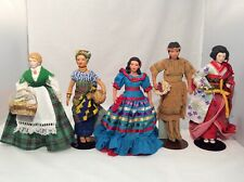 Avon International Porcelain Doll Collection lot of 5 with boxes 8-9inch doll