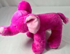 "FIESTA Solid Pink ELEPHANT Plush Stuffed Animal 12"" Two Tone Soft"