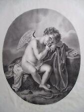 superbe Dessin Cupidon époque Empire signé et daté 1808 Alphonse Giroux et Cie