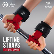 Wyox Power Lifting Bar Straps With Wrist Support Weightlifting Cross Fit Gym