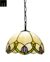 New Arrival Tiffany Floral Style Stained Glass Pendant Light Home Home Decor