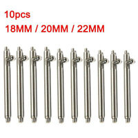 Quick Release Spring Bars Stainless Steel Watch Band Strap Pin Bar 18-22mm 10pcs