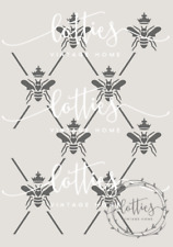 A4 STENCIL QUEEN BEE HARLEQUIN PATTERN ❤ Fabric Furniture Vintage 190 MYLAR