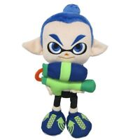 """Official Sanei Splatoon 9"""" Octolings Boy Doll Plush Toy Squid Blue Rare Gift"""