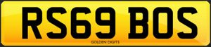 RS69 BOS PRIVATE CHERISHED PERSONALISED REG REGISTRATION NUMBER PLATE BOSS RS6