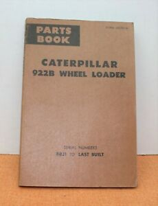 CATERPILLAR CAT 922B WHEEL LOADER PARTS BOOK 1979 S/N 88J1