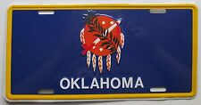 1990's OKLAHOMA INDIAN TRIBE SHIELD BOOSTER License Plate