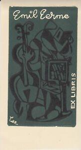 ex-libris Emil Lerme (A Lee-canada 1958,lino)
