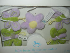 New listing Pottery Barn Lavender butterfly baby crib mobile musical plays Hush little baby