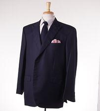 NWT $6495 BRIONI Navy Stripe Superfine Wool-Silk Suit 50 R (Eu 60) Peak Lapels