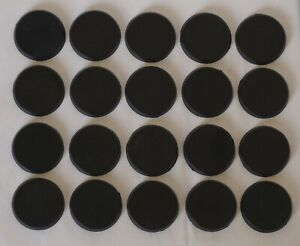 Generic 32mm Black Round Bases (20) Suitable for Warhammer 40k and Age of Sigmar