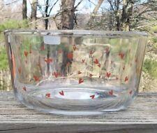 Opalhouse 32oz Glass Hearts Print Food Bowl. Red Hearts
