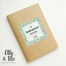 Personalised Camping Trip Travel/Holiday Notebook/Planner/Journal/Scrapbook Gift
