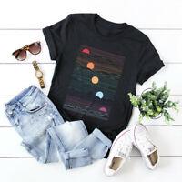 Women's Sunrise And Sunset Creative Tee Short Sleeve Top Blouse Cotton T-Shirt