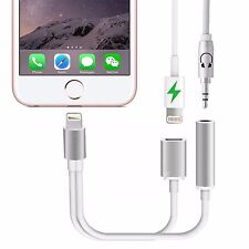 iPhone 7 & 7Plus Lightning a 3.5mm Aux Auricular Jack Audio Cargador Adaptador