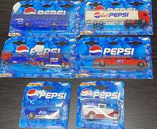 Lot Of 6 Majorette Pepsi Cola Diecast Cars & Trucks Series 200&300 New Sealed