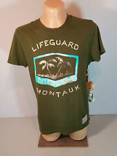 Ditch Plains señores camisa t-shirt talla M caqui de manga corta nuevo
