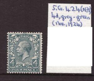 1924 Block Cypher 4d SG 424 N39 Mint never hinged single MNH