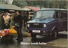 Leyland Sherpa 1980-81 UK Market Sales Brochure 200 230 250 255 Van Pick Up Bus
