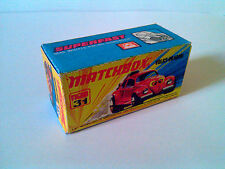 Boîte copie repro MATCHBOX Superfast N° 31 new Volks Dragon ( reproduction box )