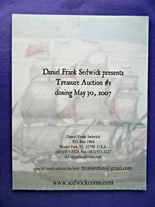 Daniel Frank Dedwick Treasure Auction #1 2007  w/ prices realized list