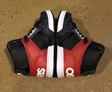 Osiris NYC 83 Kids Size 12 White Black Red BMX DC Skate Shoes SNEAKERS