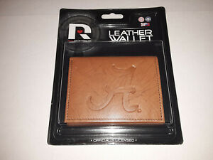 Rico Industries NCAA Alabama Crimson Tide Embroidered Leather Trifold Wallet