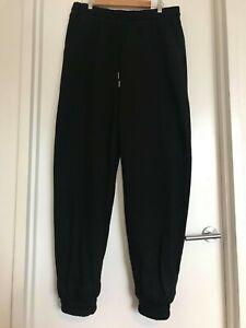 ASOS Design Plus Size Super Oversized Black Fleece Joggers Size 16