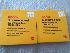 2 Kodak 882 Dual 8mm Movie Reel - 200 ft. (NEW)
