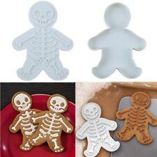 Halloween skull stamp sugar cookie cutters Gingerbread man cookie mold
