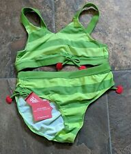 NWT Sz 12 Gymboree CHERRY BABY Green Bikini Swimsuit 2pc Stripe
