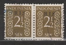 Indonesie Indonesie 43 RIS pair CANCEL MODJOKERTO 1950 R.I.S Serikat