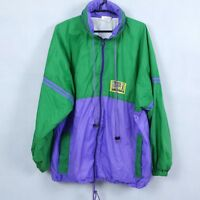 MARCEL CLAIR Vintage Mens Green Zip Up TrackSuit Top Outdoor Jacket SIZE XL
