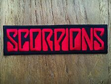Scorpions Embroidered Sew Iron On Patch Logo Rock Band Music Heavy Metal Jacket.
